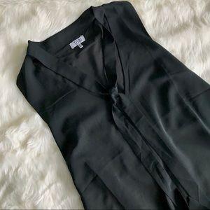 Tobi Black Sleeveless Pussy Bow Shift Dress